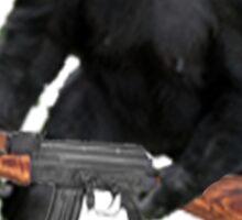 Chimp with an AK-47 Sticker