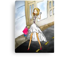 Shopping Girl I know Canvas Print