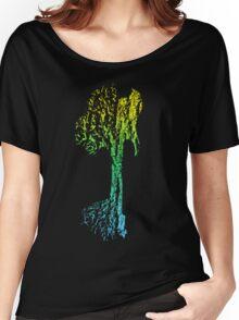 Guitar Tree Fusion (Yellow/Cyan) Women's Relaxed Fit T-Shirt