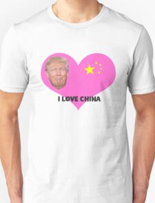 I Love China, Donald Trump T-Shirt