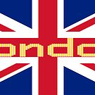 City of London Flag - UK Union Jack Sticker T-Shirt by deanworld