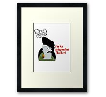 Thinker! Framed Print