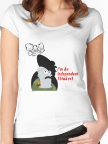 Thinker! Women's Fitted Scoop T-Shirt