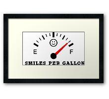 Smiles Per Gallon Framed Print