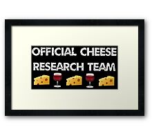 Official Cheese Research Team Framed Print