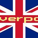 Liverpool Union Jack Flag Sticker T-Shirt Football Club by deanworld