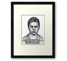 'Little Jimmy' Notorious leader of The Gumball Gang Framed Print