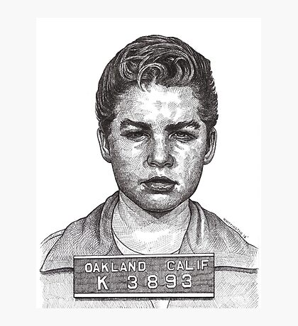'Little Jimmy' Notorious leader of The Gumball Gang Photographic Print