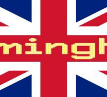 City Birmingham UK Flag United Kingdom Union Jack Sticker Tee Sticker