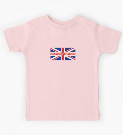 City Birmingham UK Flag United Kingdom Union Jack Sticker Tee Kids Tee