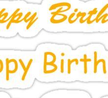 Happy Birthday - Yellow Text Sticker