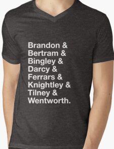 Men of Jane Austen Mens V-Neck T-Shirt