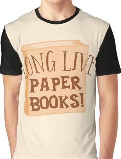 LONG LIVE paper books Graphic T-Shirt