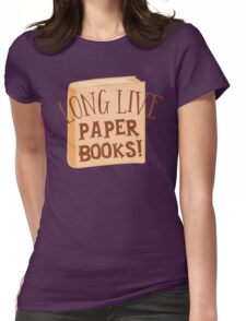 LONG LIVE paper books Womens Fitted T-Shirt