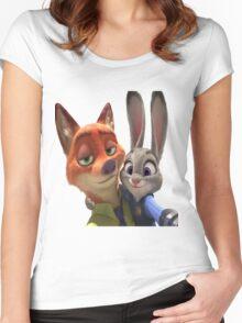 Zootopia Selfie Women's Fitted Scoop T-Shirt