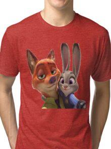 Zootopia Selfie Tri-blend T-Shirt