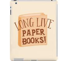 LONG LIVE paper books iPad Case/Skin