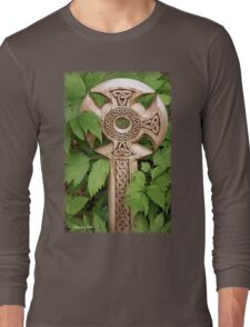 A Celtic Cross for St Patrick's Day Long Sleeve T-Shirt