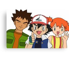 Pokemon Ash Brock and Misty Canvas Print