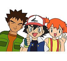 Pokemon Ash Brock and Misty Photographic Print