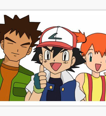 Pokemon Ash Brock and Misty Sticker