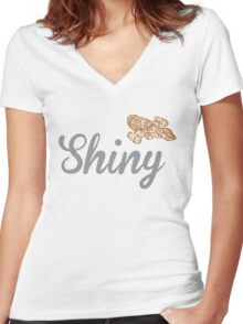 Shiny Serenity Women's Fitted V-Neck T-Shirt