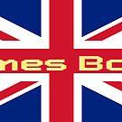 Union Jack Flag - James Bond Homage - England Sticker by deanworld