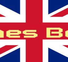 Union Jack Flag - James Bond Homage - England Sticker Sticker
