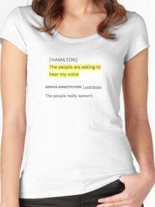 Hamilton rap genius note Women's Fitted Scoop T-Shirt