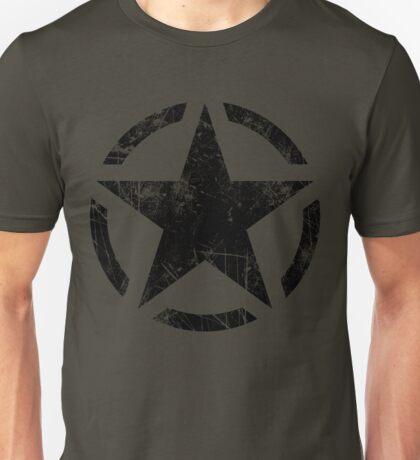 Star Stencil Vintage Decal Grunge Style Unisex T-Shirt