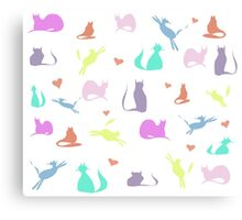 Rainbow Cats Canvas Print