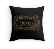 Trixter (Gold) Throw Pillow