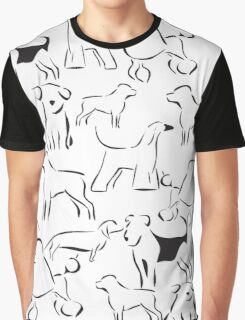 Dog Crazy! Black n White Graphic T-Shirt