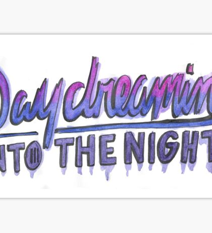 """Daydreaming"" by Paramore Lyric Drawing (Horizontal) Sticker"