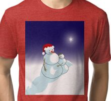 Snowman Christmas Tri-blend T-Shirt