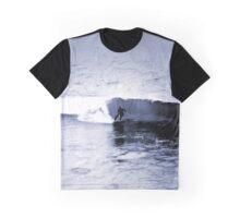 Blue Surfer Graphic T-Shirt