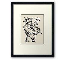 Devil with the Bagpipes Framed Print