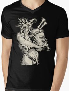 Devil with the Bagpipes Mens V-Neck T-Shirt
