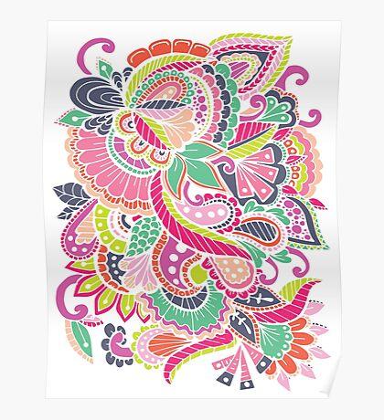 Zen Zen Floral Poster