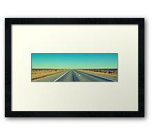 The endless Hay Plains. Framed Print