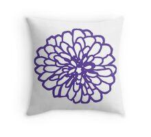 Single Purple Chrysanthemum  Throw Pillow