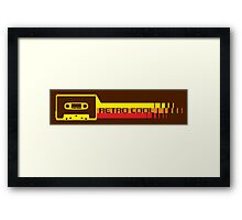 Retro Cool Cassette Framed Print