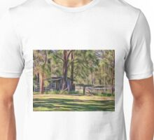 Old metal farm building in rural Queensland, Australia Unisex T-Shirt