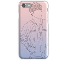 Seventeen - S.Coups line art (Rose Quartz/Serenity) iPhone Case/Skin