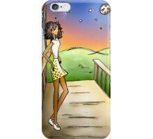 Stargazing Girl I Know iPhone Case/Skin