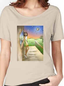 Stargazing Girl I Know Women's Relaxed Fit T-Shirt