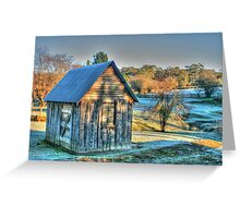 The Little House & the Frost .. HDR Greeting Card