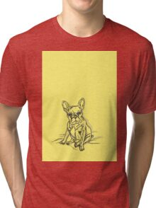 Yellow French Tri-blend T-Shirt