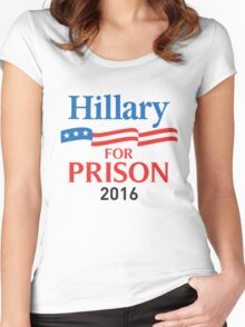 hillary for prison 2016 Women's Fitted Scoop T-Shirt