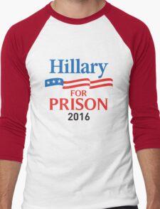 hillary for prison 2016 Men's Baseball ¾ T-Shirt